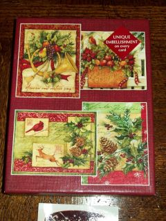 Susan Winget Heart and Home Christmas Cards enV 24 Ct 4 Designs
