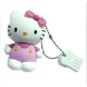 4GB USB Flash Drive 3D Pink Hello Kitty Character Lovely Cute Bling