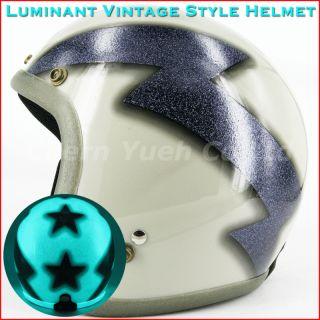 Metalflake Thunderbolt motorbike Street Open Face Helmet Shield