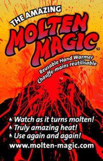 Molten Magic Reusable Heat Pad Hand Warmer Gel Pack