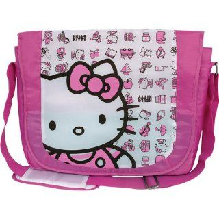 Hello Kitty 20809 15.4 inch Nylon Messenger Bag Pink