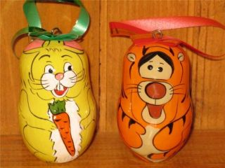 Christmas Tree Ornaments 7 Set Pooh Tigger Animals Gift