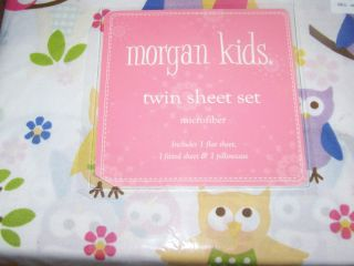 Twin Size Morgan Kids Woodland Owls Sheet Set Sheets & Pillowcase