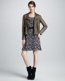MARC by Marc Jacobs Sergeant Leather Jacket & Exeter Printed Dress