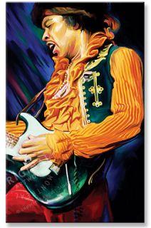 Jimi Hendrix Signed Original RARE Canvas Art Painting