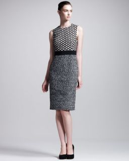 Giambattista Valli Lace/Tweed Combo Dress