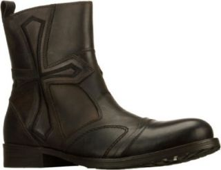 New Mens Lounge by Mark Nason Hennessey Brown Biker Short Boots 10 5