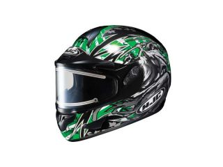 HJC CL 16 Slayer Snow Helmet with Electric Shield GREEN MED