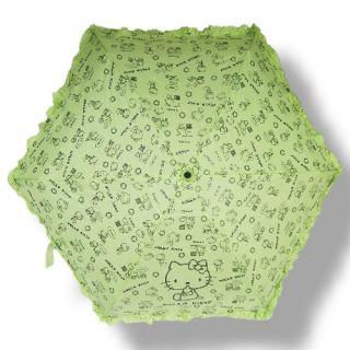 New Compact Totes Parasol Ruffle Folding Umbrella HKT