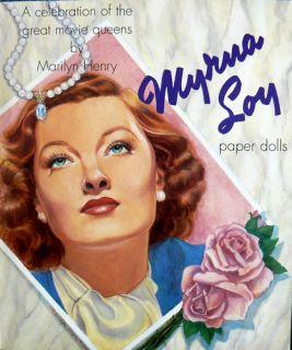 Myrna Loy Paper Doll Book Marilyn Henry B Shackman