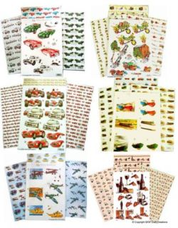 Diecut Decoupage Background Paper Sets Mixed Designs