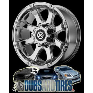 18 Inch 18x9 AMERICAN RACING ATX wheels LEDGE Chrome wheels rims