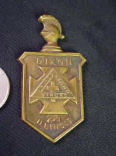 Knights Templar Masons Pin Shield In Hoc Signo Vinces Medal Badge