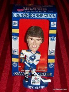 French Connection Buffalo Sabres NHL Hockey Bobblehead Labatt Box