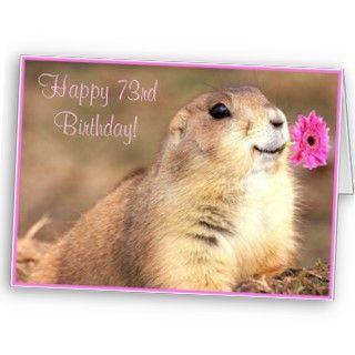 Happy 73rd Birthday Prairie dog greeting card