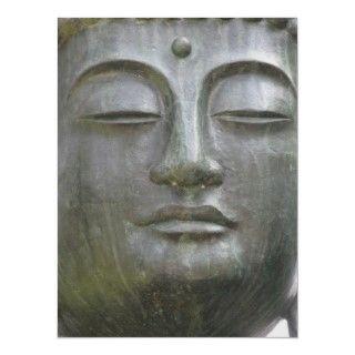 Buddhas face the statue in Japanese Tea Garden in San Francisco
