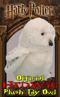 Official Harry Potter Hedwig Plush Stuffed Toy Owl