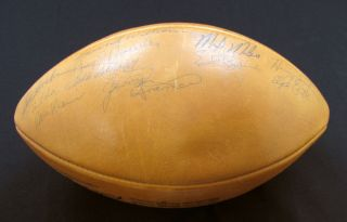 1962 Green Bay Packers Team Signed Football 40 Sigs