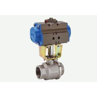 DA Pneumatic Actuator with 2 Way Stainless Steel Full Port Ball Valve