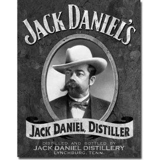 Jack Daniels   Portrait Metal Tin Sign , 12x16 Home