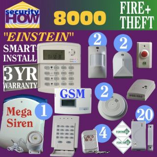 Home House Security Alarm System Deluxe Fire Burglary Wireless GSM