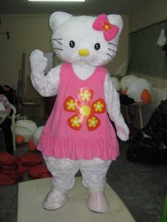 Hello Kitty Cat Mascot Costume Halloween Party Children