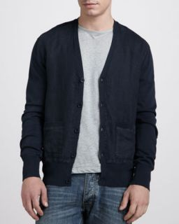 James Perse Button Front Knit Shirt