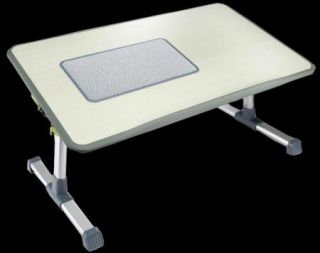Portable Folding Laptop Table Stand Desk Bed Sofa Tray with Cooling