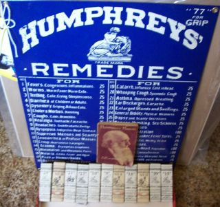 Antique Humphreys 4 Homeopathic Medicine Bottle Box Unopened Diarrhea
