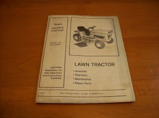 Vintage  Lawn Garden Tractor Mower Owners Manual Model 502 250891