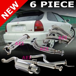Honda Civic Hatchback 96 00 Stainless Steel Catback Header Pipe