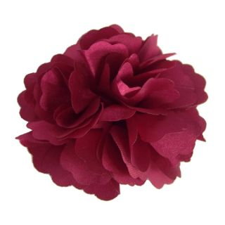 Silky Rose Flower Hat Hair Clip Brooch Pin 16 Colors