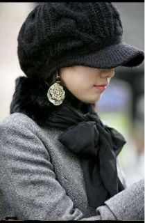 Trendy Womens Winter Knit Beanie Hat LONG BEANIE CAP 4 COLORS, FRFEE