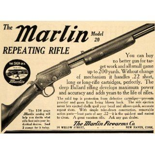 1911 Ad Marlin Repeating .22 Caliber Rifle Model 20