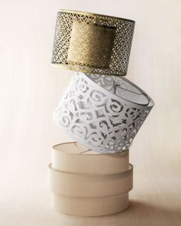 3LPX Cut Out Metal, Laser Cut Drum, and Art Deco Lamp Shades
