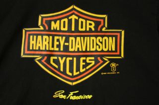 1987 San Francisco Frisco CA Vtg Holoubek Medium Biker T Shirt