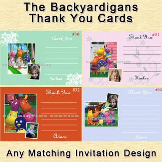 Birthday Invitation Thank You Cards Sticker Pkg Personalized