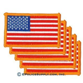 American Flag Patch (Dark Gold Border) 5 PACK Everything