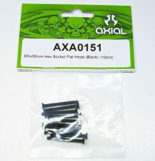 Axial M3X30MM Hex Socket Flat Head Screws AXA0151 XR10