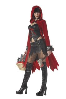 Women Sexy Rebel Toons Little Red Riding Hood Costume