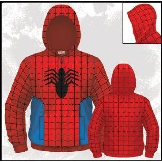 Marvel Comics Spiderman Suit Costume Mens Zip Hoodie