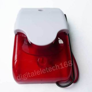 Home Security Systems Alarm Strobe Siren Red Light 12V 300mA 150TIMES