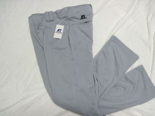 Youth Baggy Baseball Pants Grey Russell Athletic Pick Size XS Small