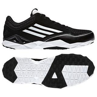 Adidas aZ Pro Trainer Black Size 13 Baseball Turf Coaches Shoes NEW