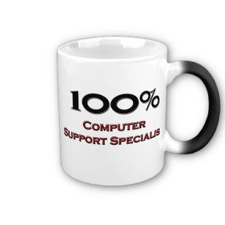 100 Percent Computer Support Specialist Coffee Mugs