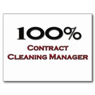 100 Percent Contract Cleaning Manager Post Card