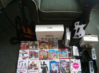 Nintendo Wii Console 15 Games A Ton of Accessories