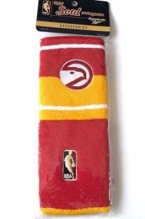Pair of Wristbands NBA Atlanta Hawks Basketball Cotton Terry Logoman