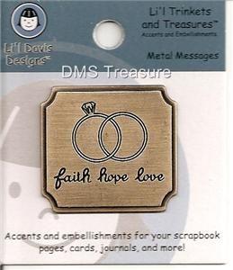 LiL Davis Trinkets and Treasures Faith Hope Love Charm