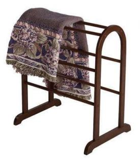 Winsome Quilt Rack in Antique Walnut